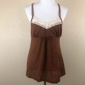 One Step Up Brown Tank Top